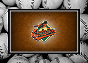 Outfield Prints - Baltimore Orioles Print by Joe Hamilton