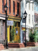 Brick Framed Prints - Baltimore - Quaint Fells Point Street Framed Print by Susan Savad