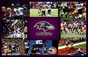 Ravens Metal Prints - Baltimore Ravens 2 Metal Print by Joe Hamilton
