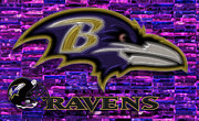 League Prints - Baltimore Ravens Print by Jack Zulli