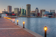 Patapsco River Photos - Baltimore Skyline at Twilight I by Clarence Holmes