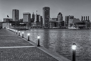 Patapsco River Posters - Baltimore Skyline at Twilight II Poster by Clarence Holmes