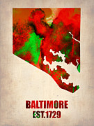 Irina  March - Baltimore Watercolor Map