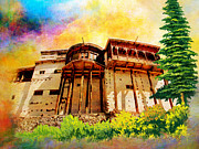 Architecture  Drawings Paintings - Baltit Fort by Catf