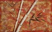 Acrylic Paintings - Bamboo 2 by Darice Machel McGuire