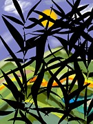 Bamboo Print by Christine Fournier