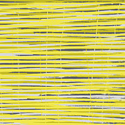 Bamboo Fence Art - Bamboo Fence - Yellow and Gray by Saya Studios