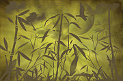 Brown Tones Posters - Bamboo Garden Poster by Angela Doelling AD DESIGN Photo and PhotoArt