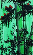 Flora Drawings Prints - Bamboo Jungle Print by Pg Reproductions