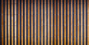Matting Metal Prints - Bamboo Mat Texture Metal Print by Tim Hester