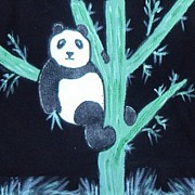 Panda Mixed Media - Bamboo Panda by Teca Burq-Art