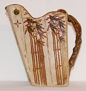 Pitcher Ceramics - Bamboo Pitcher by Susan Perry