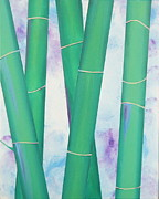 Tryptych Originals - Bamboo tryptych 2 by Shiela Gosselin