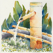 Bamboo Originals - Bamboo Water Spout by Pat Katz