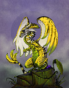 Banana Digital Art Prints - Banana Dragon Print by Stanley Morrison