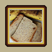 Banana Art Digital Art Posters - Banana Loaf - Food - Kitchen Poster by Barbara Griffin