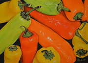 Print Pastels Originals - Banana Peppers by Joanne Grant