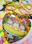 Food And Beverage Jewelry - Banana Split with Candy Sprinkles by Razz Ace
