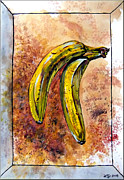 Yellow Bananas Paintings - Bananas by Daniel Janda