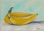 Yellow Bananas Paintings - Bananas III by Torrie Smiley