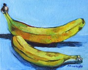 Yellow Bananas Paintings - Bananas by Jan Bennicoff