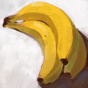 Yellow Bananas Paintings - Bananas by Michael Barnett