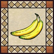Banana Art Prints - Bananas One Print by Linda Mears