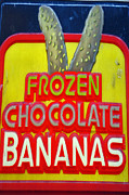 Local Food Posters - Bananas Poster by Skip Willits