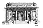 Buildings Drawings - Bancroft Hall U S N A by Calvin Durham