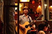 Band At Palaad Tawanron Restaurant - Chiang Mai Thailand - 01133 Print by DC Photographer