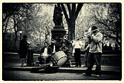 Bryant Park New York Framed Prints - Band on Union Square New York City Framed Print by Sabine Jacobs
