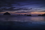 Beach Photograph Posters - Bandon Beach at Twilight Poster by Andrew Soundarajan