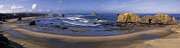 Formations Framed Prints - Bandon Beach Panorama Framed Print by Andrew Soundarajan