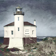 Northwest Art - Bandon Lighthouse by Carol Leigh