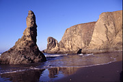 Joe Klune Metal Prints - Bandon sea stacks Metal Print by Joe Klune