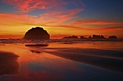 Beach Sunsets Art - Bandon Sunset Spectacular by Adam Jewell