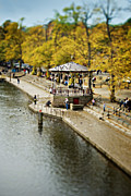 Tilt Shift Framed Prints - Bandstand In Chester Framed Print by Meirion Matthias