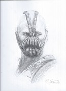 The Dark Knight Drawings - Bane - The Masked Man by Nicholas Fuciarelli