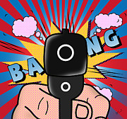 Caricature Prints - Bang Bang  Print by Mark Ashkenazi