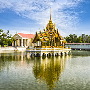 Bangkok Prints - Bang Pa In Palace Thailand Print by Colin and Linda McKie