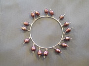 Bangle Jewelry - Bangle pink pearls by Jan Durand
