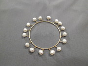 Bangle Jewelry - Bangle white pearls by Jan Durand
