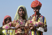 Festivals Of India Photos - Banjari Dancer At Pushkar Camel Fair - Rajasthan by Craig Lovell