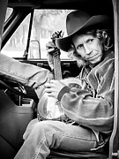 Cowboy Hat Photo Posters - Banjo Man Poster by Darryl Dalton