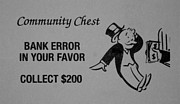 Black Tie Digital Art Posters - BANK ERROR in BLACK AND WHITE Poster by Rob Hans