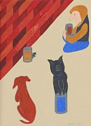 Homeless Pets Prints - Bank Food Print by Barbara St Jean