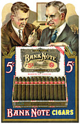 Antique Digital Art Prints - Bank Note Cigars Print by Gary Grayson