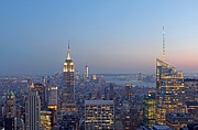 Jersey City Prints - Bank of America and Empire State Building Print by Juergen Roth