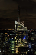 Bank Of America Framed Prints - Bank of America Tower at night Framed Print by Gary Eason