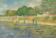Bank Painting Posters - Bank of the Seine Poster by Vincent van Gogh